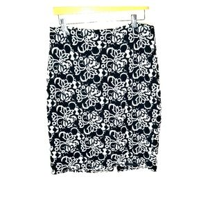 NWT-TALBOTS Black/White and Lace Guipure Skirt